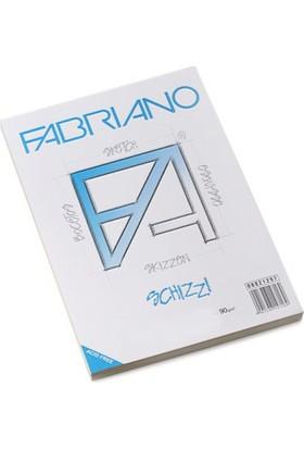 Fabriano Schizzi Classico Natural Dokulu Eskiz Bloknot, 90Gr., 24X33M