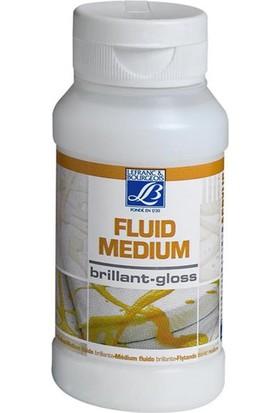 L&B Glossy Fluid Medium, Parlak Akrilik Medyum 120Ml
