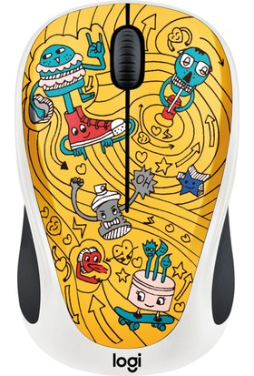 Logitech M238 Kablosuz Mouse The Doodle Collection Go-Go Gold 910-005056