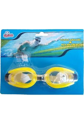 GadaHome Kulak Tıkaçlı Yüzücü Gözlüğü