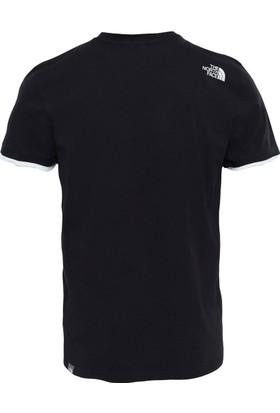 The North Face V-Neck Erkek T-Shirt Siyah