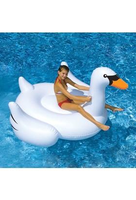 Gigantic Dev Beyaz Kuğu Yüzdürücü Flatör 190CM Giant Swan Flotor Deniz Yatağı Flotör Yüzme Flatörü Flamingo