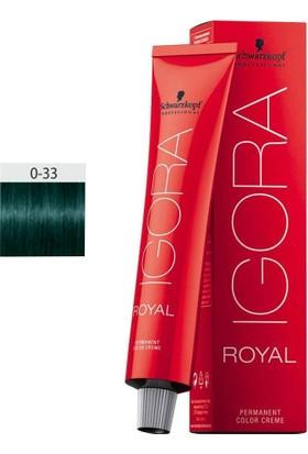 Schwarzkopf Igora Royal 0.33 Saç Boyası Teknik Renkler 60ml