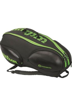 Wilson Tenis Çantası Vancouver 9 Pack - Siyah / Yeşil (WRZ842709)