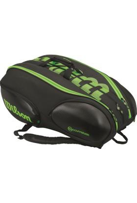 Wilson Tenis Çantası Vancouver 15 Pack - Siyah / Yeşil (WRZ842715)