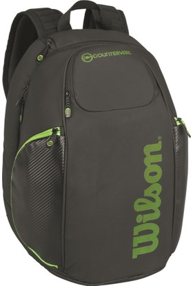 Wilson Tenis Çantası Vancouver Backpack - Siyah / Yeşil (WRZ842796)