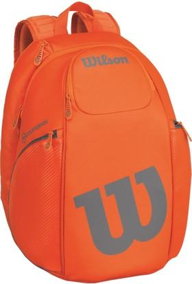 Wilson Tenis Çantası Vancouver Backpack Turuncu / Gri (WRZ849796)