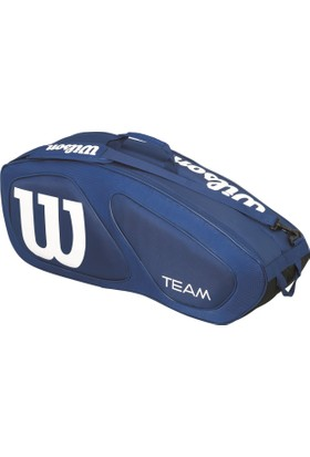 Wilson Tenis Çantası Team II 6 Pack - Navy / Beyaz (WRZ852606)