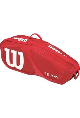 Wilson Tenis Çantası Team II 3 Pack - Kırmızı/Siyah (WRZ857603)
