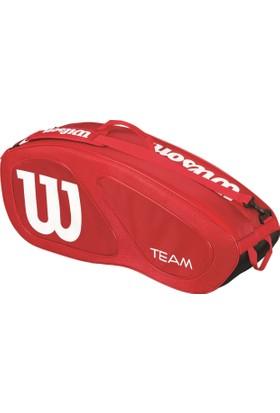 Wilson Tenis Çantası Team II 6 Pack - Kırmızı/Siyah (WRZ857606)