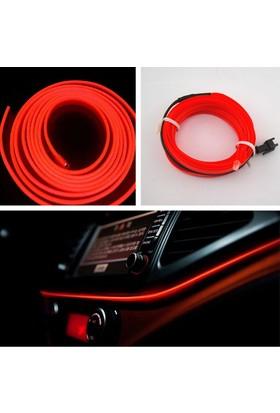 ModaCar Kırmızı Araç İçine Neon Kablo 5 Metre 378820