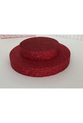 Cici Kırmızı Strafor 2 Katlı Pasta Altlığı 30x2 cm