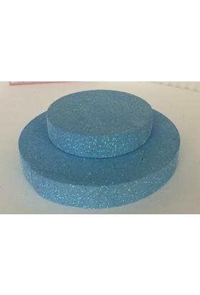 Cici Mavi Strafor 2 Katlı Pasta Altlığı 30x2 cm