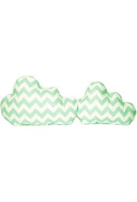 Palmy Baby 2 li Bulut Yastık Seti - Yeşil Zikzak Desen