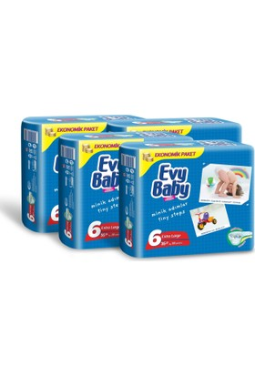 Evy Baby Bebek Bezi Kremli Jumbo Paket 28 Adet Xlarge 4'Lü Set