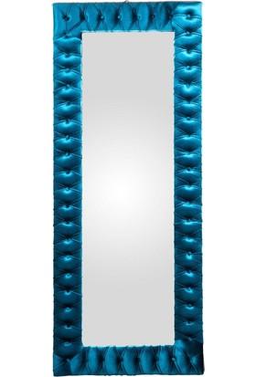 Veil Ahşap Ayna Mavi
