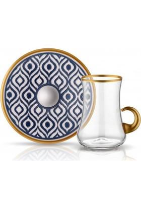 Dervish Kulplu Çay Seti 6lı Antrasit