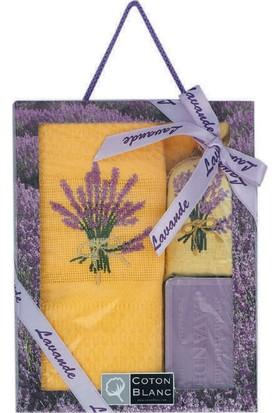 Miss Gaya Kutulu 3 Lü Set/50*70 Cm Sarı Renklı Kurulama Bezı/Sabun/Lavanta Kesesı /Lavanta