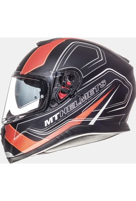 MT Kask MT Thunder 3 SV Trace Matt Black/Fluor Orange Full Face Güneş Vizörü