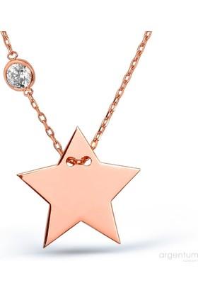 Argentum Concept Yıldız Gümüş Astar Kolye