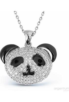 Argentum Concept Zirkon Taşlı Gümüş Panda Kolye