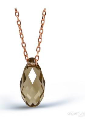 Argentum Concept Gümüş Kristal Kolye