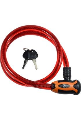 Zhonglı Anahtarlı 15X1000 mm Kilit Kırmızı 84354