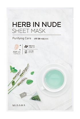 Missha Herb In Nude Sheet Mask (Purifying Care)