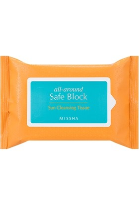 Missha All Around Safe Block Sun Cleansing Tissue