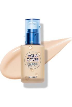 Missha Aqua Cover Foundation SPF20/PA++ (No.W21)
