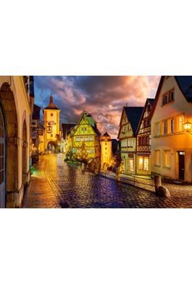 Castorland 1000 Parça Puzzle - Gece Rothenburg
