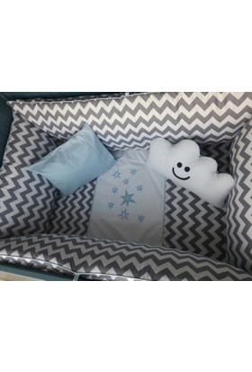 Doğan Bebe Butik Tasarım Gülen Bulut Uyku Seti