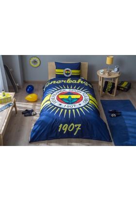 Taç Tek Kişilik Lisanslı Nevresim Takımı Glowlu Fenerbahçe Parlayan Güneş