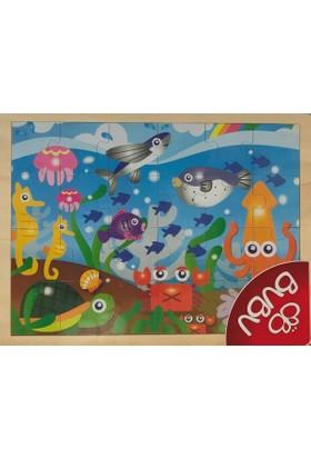 Bubu 24 Parça Deniz Canlıları Ahşap Puzzle