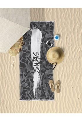 Beechbird Swag Kamuflaj Desenli Özel Tasarım Unisex Plaj Havlusu