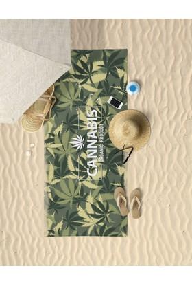 Beechbird Canna Kamuflaj Desenli Özel Tasarım Unisex Plaj Havlusu