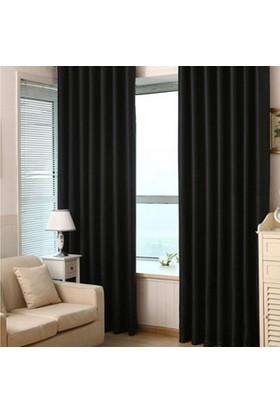 Brillant Blackout Karartma Güneşlik Perde Pilesiz Siyah - 100x270 cm
