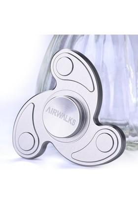Metal Stres Çarkı Gun Find Spinner Pro Spinner Pervane Taşıma Çantalı Gümüş