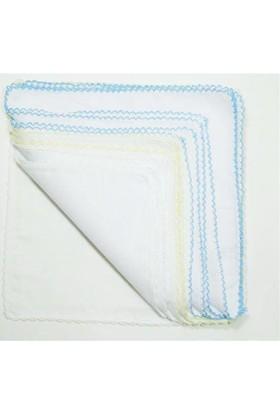 Sema Bebe Mermerşahi Bebek Mendil 12'li Ağız Bezi - Mavi