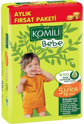 Komili Bebek Bezi Fırsat Paketi Junior 5 Beden 72 Adet