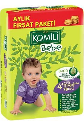 Komili Bebek Bezi Fırsat Paketi Maxi Plus 4+ Beden 78 Adet