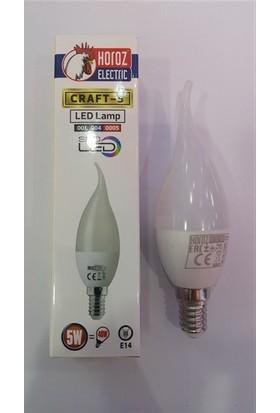 Horoz Electric Led Buji Ampul E14 5W 6400K Beyaz Işık - 10 Adet