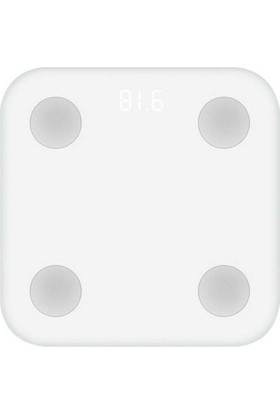 Xiaomi Mi 2 Yağ Ölçer Fonksiyonlu Akıllı Bluetooth Tartı ,Baskül
