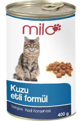 Milo Kuzu Etli Kedi Konservesi 400 gr - 24'lü