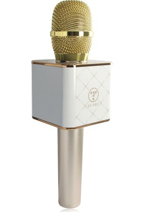 Case 4U Karaoke Mikrofonu Taşınabilir Hoparlörlü ( Bluetooth ve Aux Giriş Destekli )