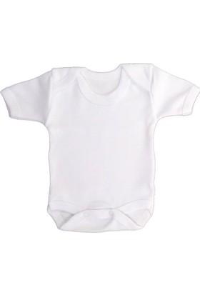Sema Bebe Yarım Kol Badi (Body) - Beyaz