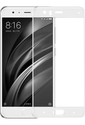 Case 4U Xiaomi Mi 6 Mi6 Full Kapatan Cam Ekran Koruyucu Beyaz