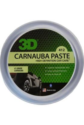 3D Carnauba Paste Wax & Pasta Cila 425 Ml. 412