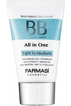 Farmasi BB All in One Krem Açıktan Ortaya Light To Medium 50ML