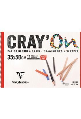 Clairfontaine Cray'On Resim Defteri 35*50 Telli 120 Gr 15 Yp